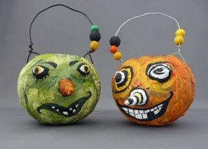 How to Paint Paper Mache Pumpkins