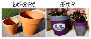 Painting Clay Flower Pots