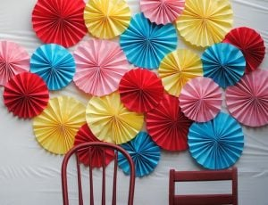 Paper Fans Backdrop