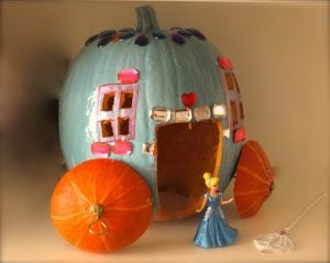 Paper Mache Pumpkin Carriage