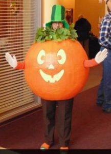Paper Mache Pumpkin Costume