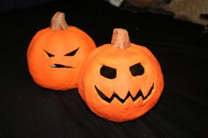 Paper Mache Pumpkin Faces
