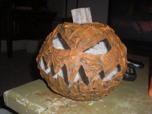 Paper Mache Pumpkin Head