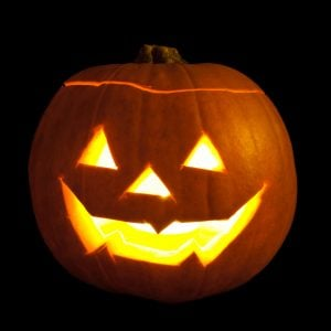 Paper Mache Pumpkin Luminary