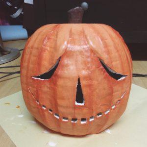 Paper Mache Pumpkin Mask