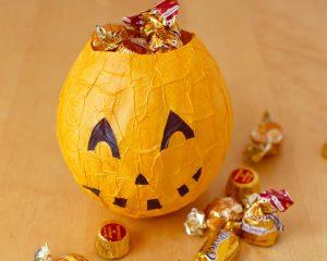 Paper Mache Pumpkins for Kids