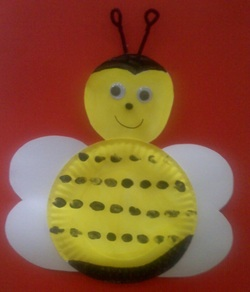 Paper Plate Bee Mask