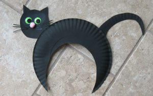 Paper Plate Cat Mask