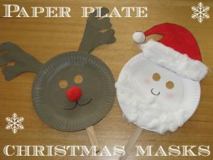 Paper Plate Christmas Masks