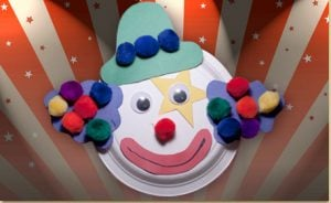 Paper Plate Clown Masks