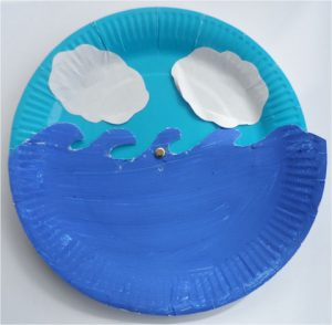 Paper Plate Dolphin Mask