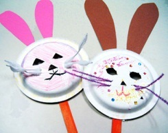 Paper Plate Easter Bunny Masks & Paper Plate Masks: 62 Creative Ideas | Guide Patterns