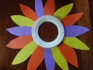 Paper Plate Flower Mask