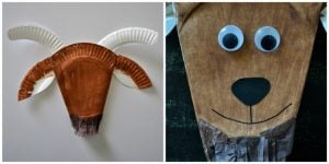 Paper Plate Goat Mask