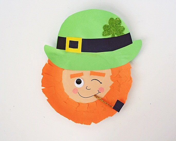Paper plate masks 62 creative ideas guide patterns for Leprechaun mask template