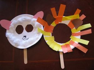 Paper Plate Masks Animals