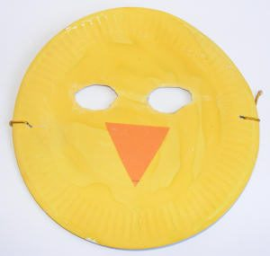 Paper Plate Mask for Toddlers