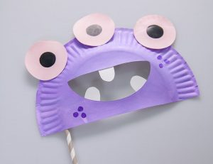 Paper Plate Monster Mask