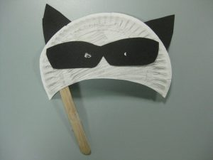 Paper Plate Raccoon Mask