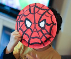 Paper Plate Super Hero Mask