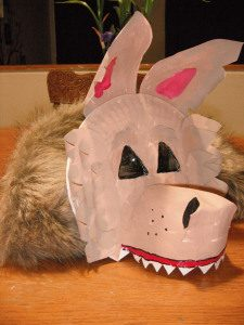 Paper Plate Wolf Mask