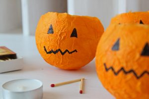 Papier Mache Pumpkin Lanterns