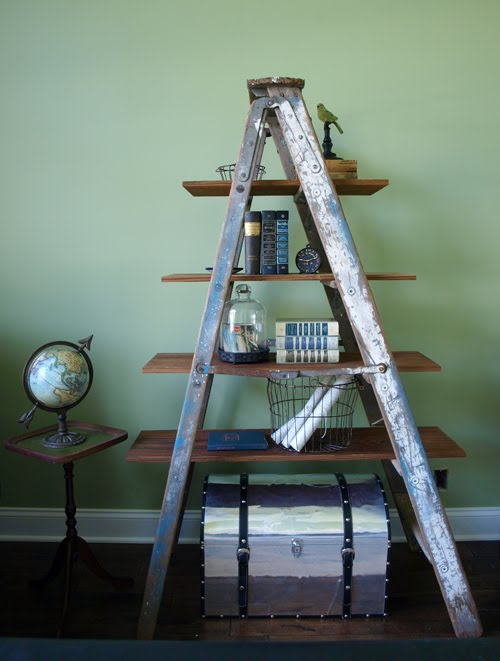 Recycled Ladder Bookshelf - 24 Ladder Bookshelf Plans Guide Patterns