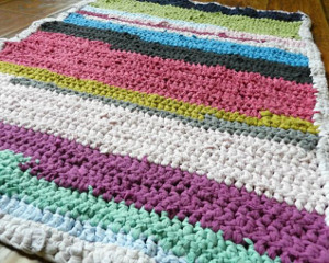 Crocheted T Shirt Rug