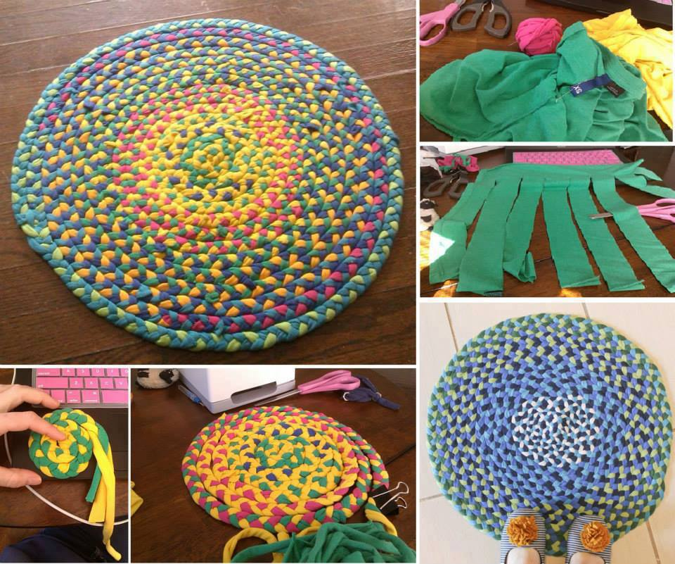 56 t shirt rug diy tutorials guide patterns - Tapetes de lana ...