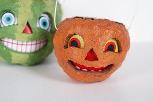 Vintage Paper Mache Pumpkins