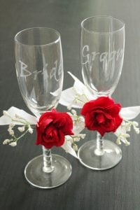 Wedding Stencils for Glass Etching