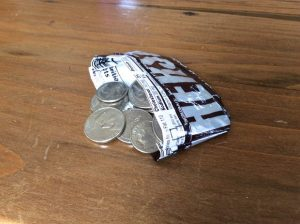 Candy Wrapper Coin Purse