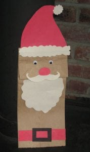 Christmas Paper Bag Puppet