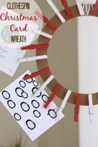 Clothespin Card Hanging Wreath