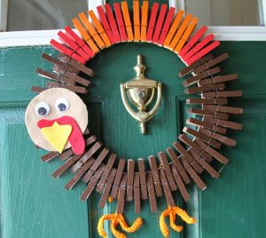 Clothespin Turkey Wreath