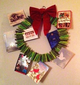 Clothespin Wreath Christmas