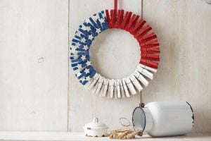 Clothespin Wreath Patriotic