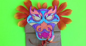 Dragon Paper Bag Puppet