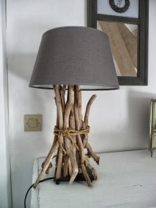 Driftwood Table Reading Lamp