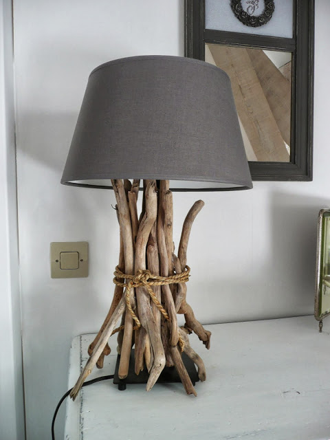 Driftwood lamp 11 diys guide patterns driftwood table reading lamp mozeypictures Gallery