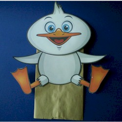 Duck Paper Bag Puppet