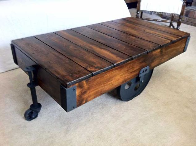 Etonnant Factory Cart Coffee Table