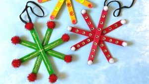 How to Make a Popsicle Stick Snowflake