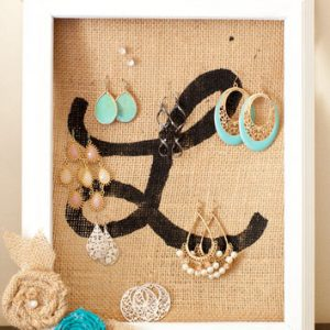 Initial Earring Holder