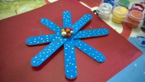 Large Popsicle Stick Snowflake
