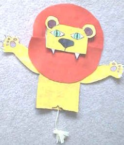 Lion Paper Bag Puppet