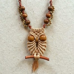 Macramé Owl Necklace