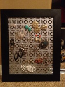Metal Earring Holder
