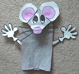 Mouse Paper Bag Puppet