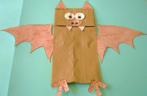 Paper Bag Bat Puppet